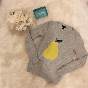 J. Crew Pear Detail Sweater.
